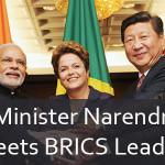 Prime Minister Narendra Modi Meets BRICS Leaders
