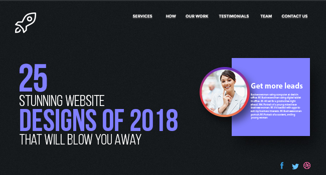 25 Stunning Website Designs Of 2018 That Will Blow You Away Probytes