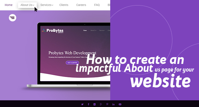 how to create about us page