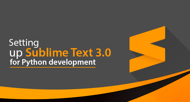 sublime text 3 for python development