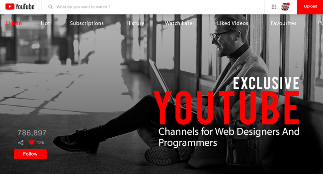 Exclusive YouTube Channels For Web Designers and Programmers