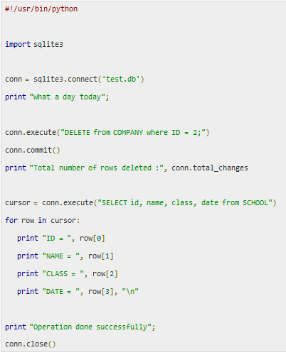 Tutorial: Python Database Programming For SQLite3   ProBytes