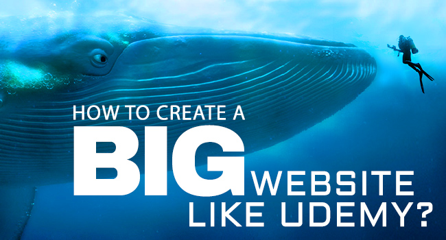 how to create website like udemy