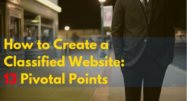 how to create a classified website