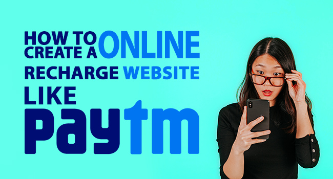 how to create online recharge website