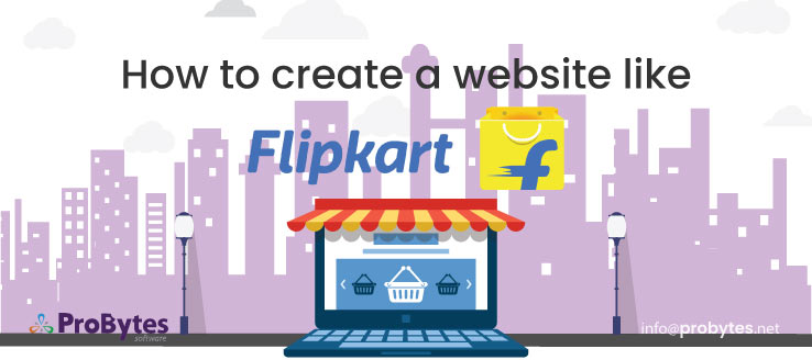 how to create a website like flipkart