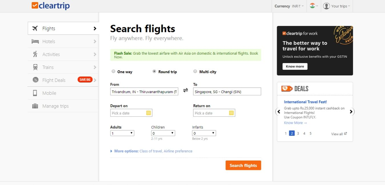 Cleartrip-Hotel-Booking-Sites