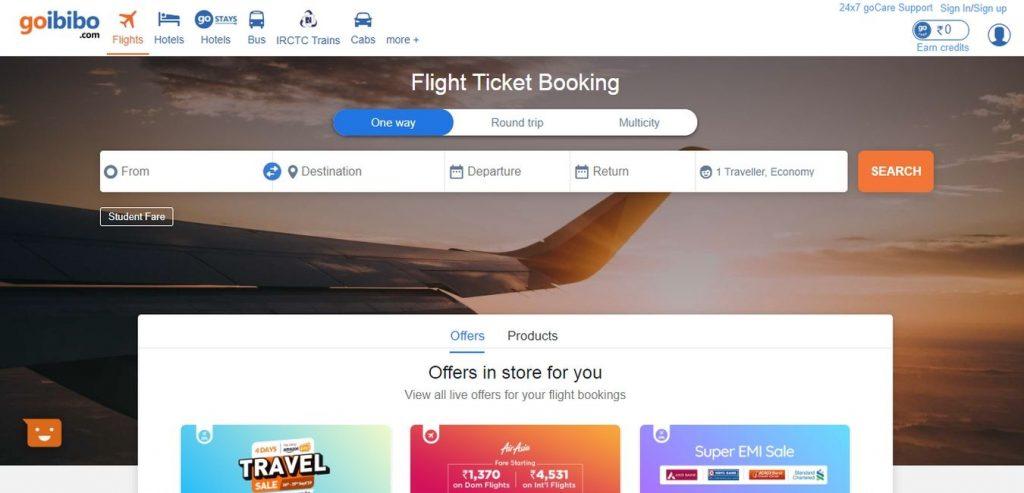 goibibo-Hotel-Booking-Sites