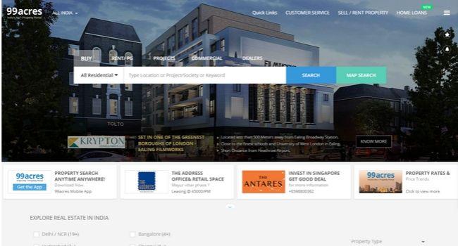 99acres-best-real-estate-websites