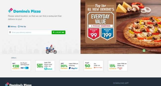 Dominos-Food-Delivery-Websites