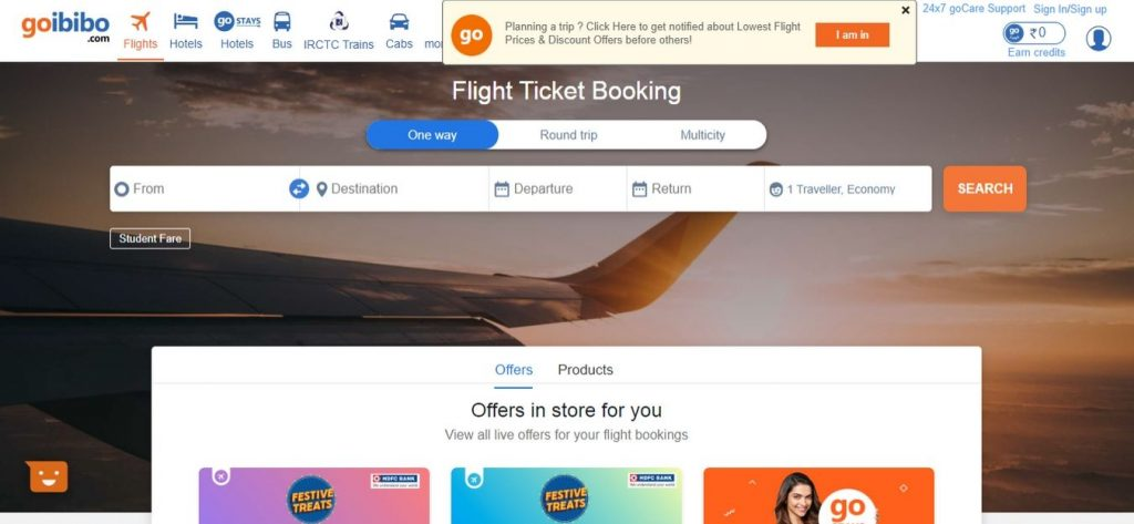 Goibibo-Flight-Booking-Sites