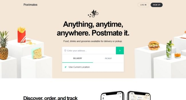 Postmates-Food-Delivery-Websites