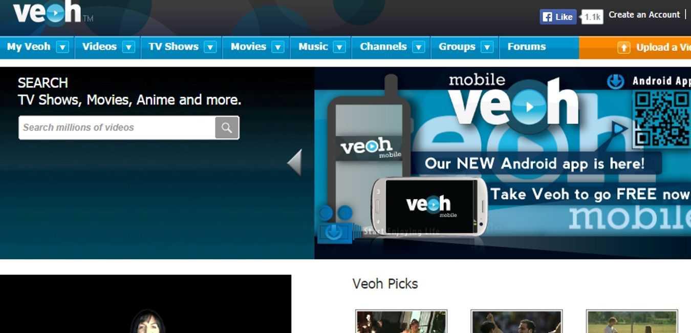 Veoh-Free-Online-Movie-Website