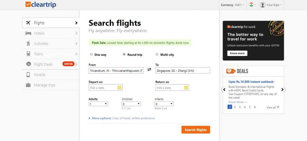 cleartrip-Flight-Booking-Sites
