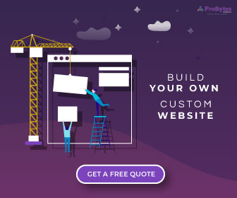 Website development ad banner
