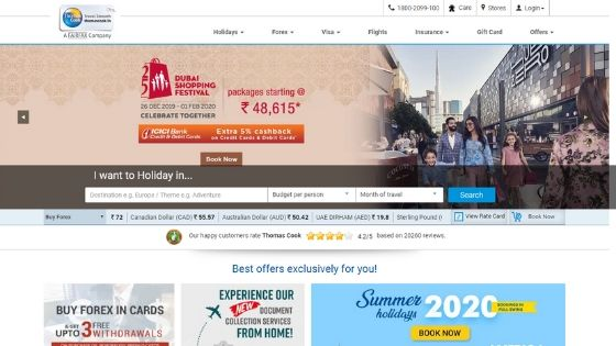 thomascook-Best-Tourism-Websites-in-India